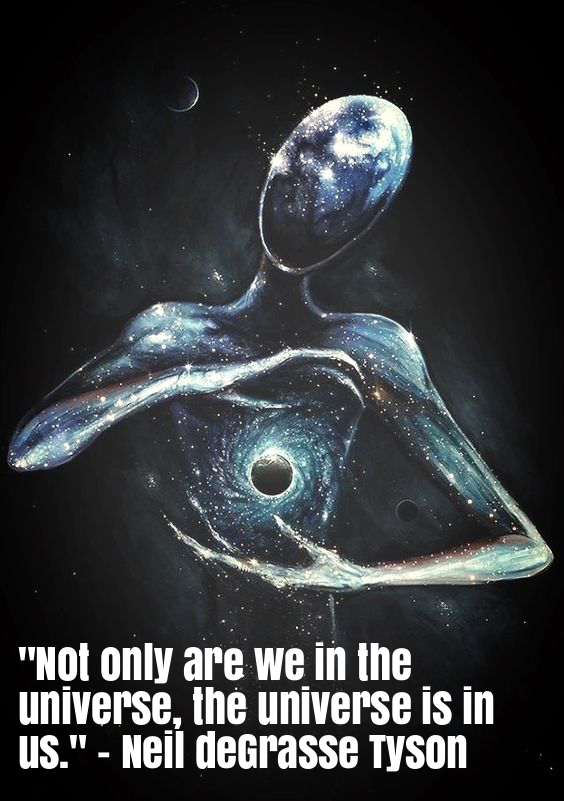 """Not only are we in the universe, the universe is in us."" - Neil deGrasse Tyson"