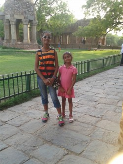 Me and my sister in Hauz Khas Village